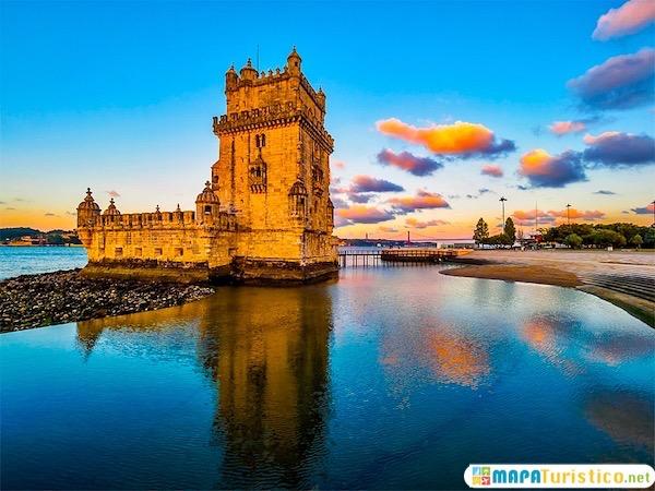 Torre de Belem al atardecer, Lisboa