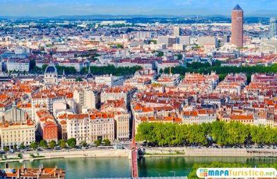 Mapa turístico de Lyon