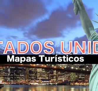 Mapas turisticos de Estados unidos