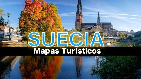 Mapas turísticos de Suecia