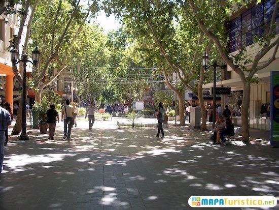area peatonal de la ciudad de san juan