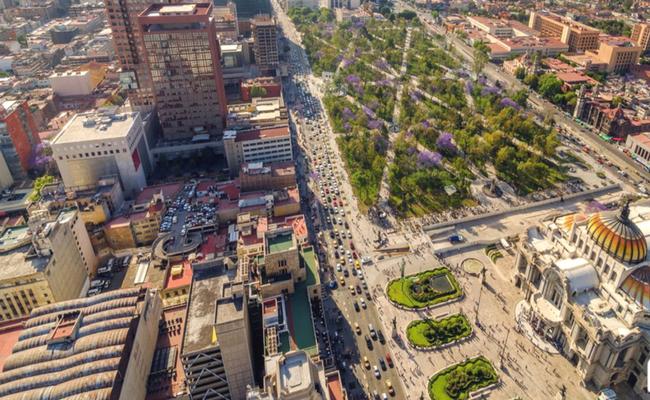 ciudad de mexico desde el aire