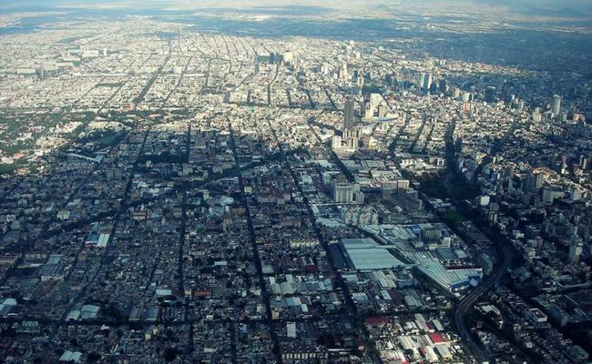 vista aerea ciudad de mexico
