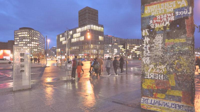 fragmentos muro centro de berlín