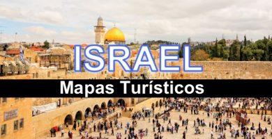 mapa turístico Israel