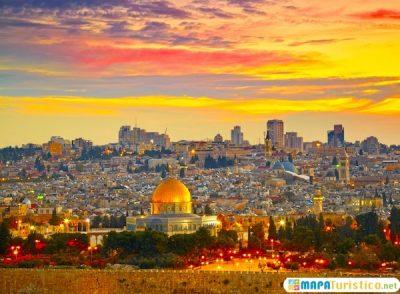 mapa turistico Jerusalen