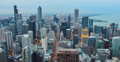 mapa turistico chicago