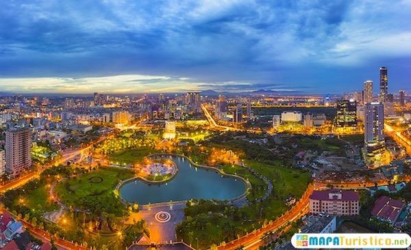 mapa turistico de hanoi