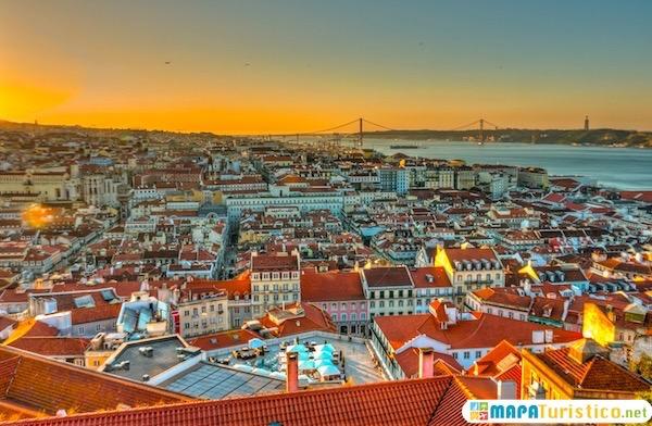 Lisboa mapa turístico