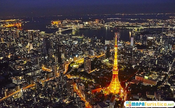 mapa turistico de tokio