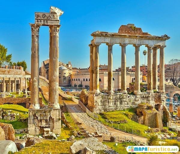 mapa turistico foro romano