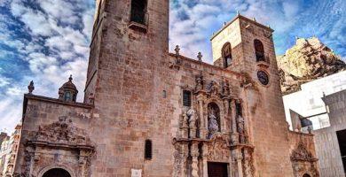 mapa turistico Iglesia de Santa María Alicante