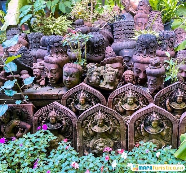 jardín de terracota de chiang mai