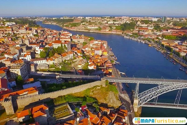 Oporto En El Mapa.Mapa Turistico De Oporto En 2020