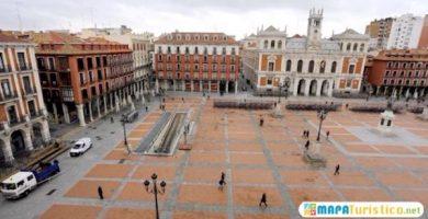 mapa turistico plaza mayor valladolid