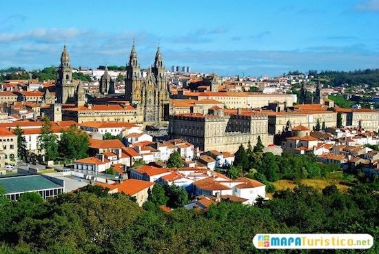Mapa Turistico Santiago Compostela En 2020