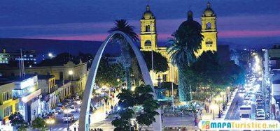 Mapa turistico de Tacna
