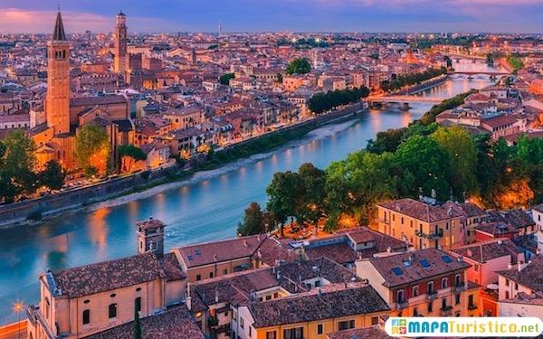 Mapa De Verona Italia.Mapa Turistico Verona En 2020