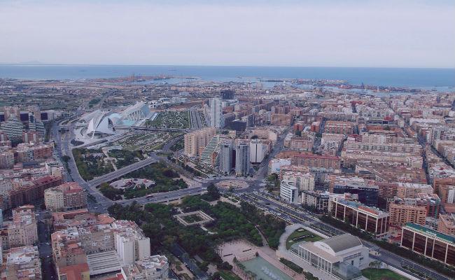 vista aerea de valencia