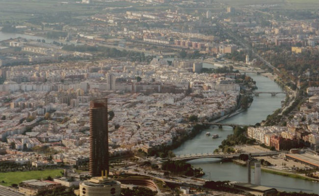 vista aerea de Sevilla