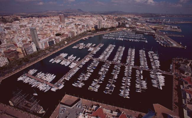 Vista aerea de Alicante