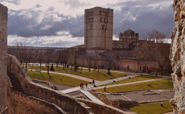 Catedral Zamora desde el aire