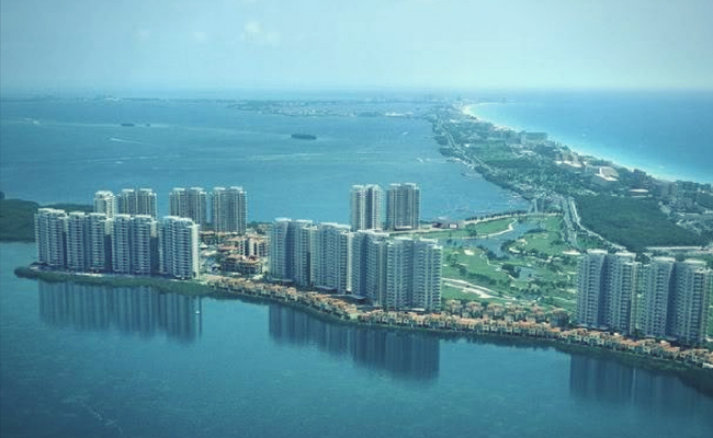 skyline ciudad de cancun