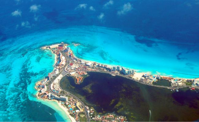 Vistas aereas de cancun