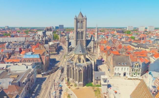 ciudad de Gante desde arriba