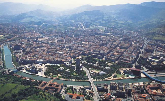 Vista aerea Bilbao