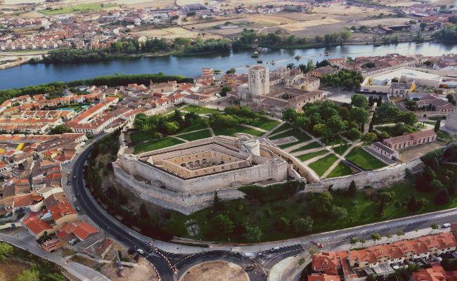 vista aerea de Zamora