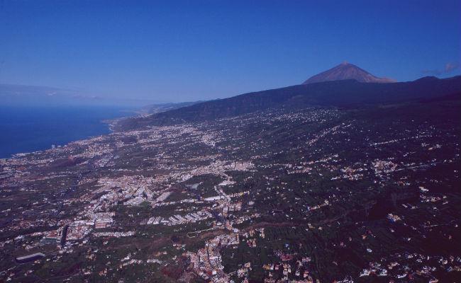 vista aerea de Tenerife