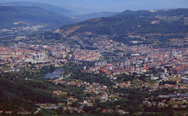 vista aerea de Ourense