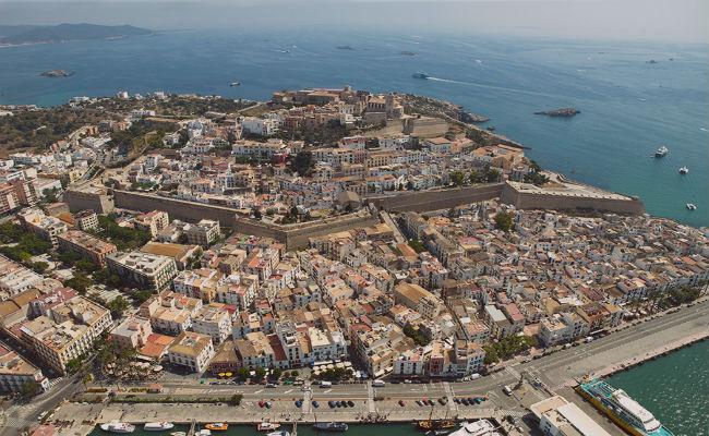 vista aerea de Ibiza