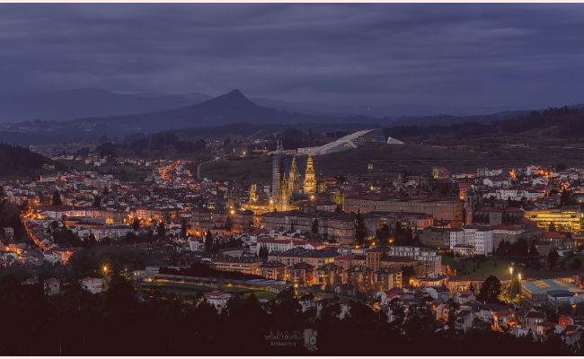 Santiago de Compostela desde el aire