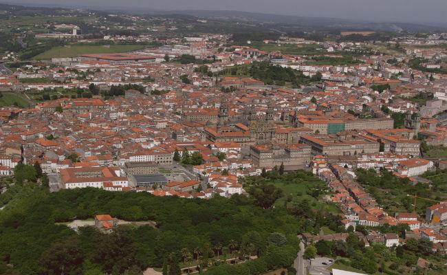 Vista aerea Santiago de Compostela