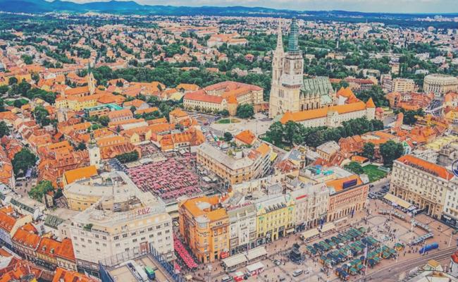 Zagreb desde el cielo